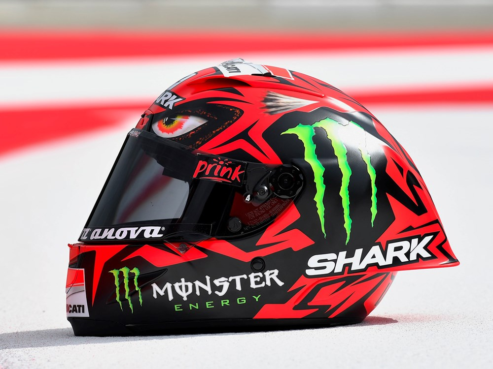 Shark new Design helmet 'Diabolo' unveiled by Lorenzo - BikeHaru
